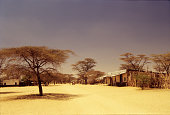 Lokichar town in the remote and dry northern Kenya