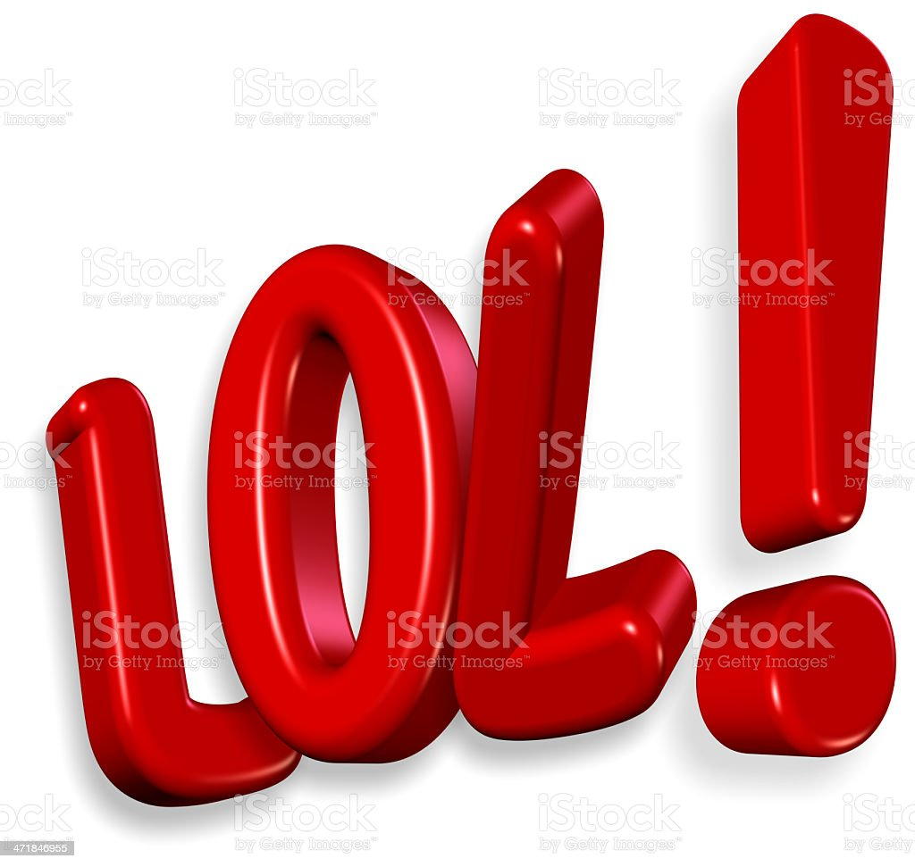 Lol - Laugh Out Loud royalty-free stock photo