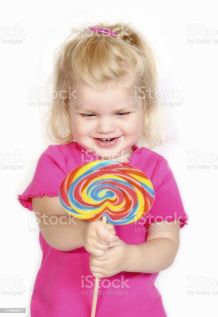 Lollipop Girl III royalty-free stock photo