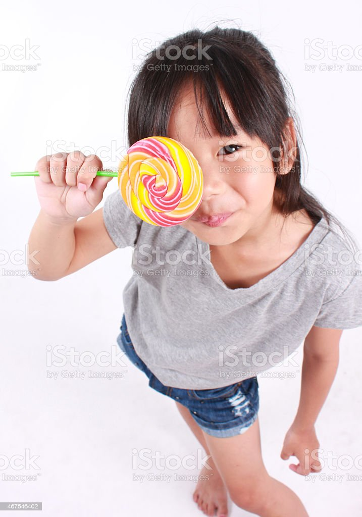 Lollipop Mädchen Lizenzfreies stock-foto