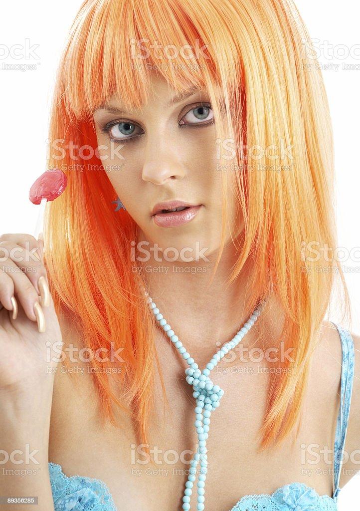 lollipop girl stock photo