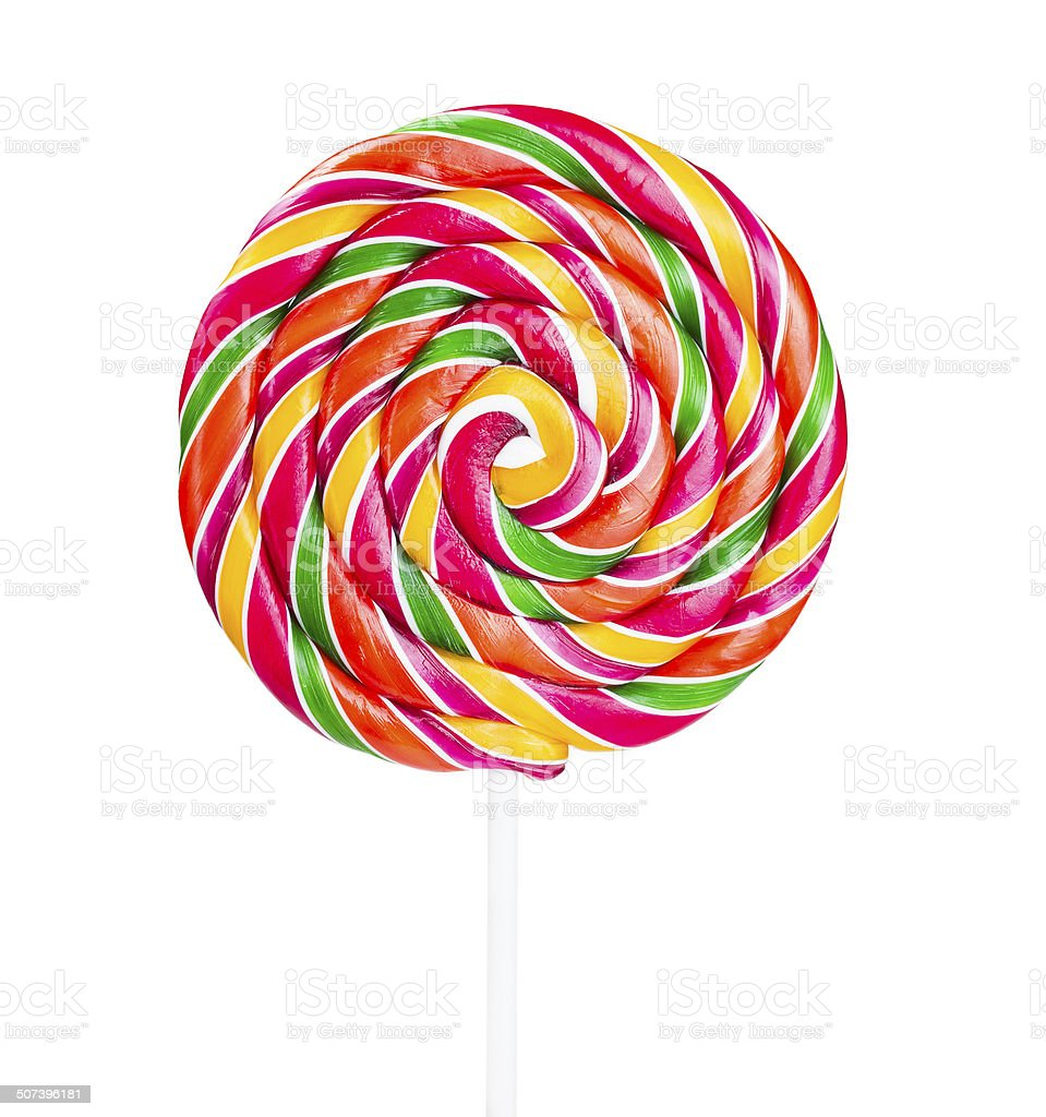 Lollipop on a stick stock photo