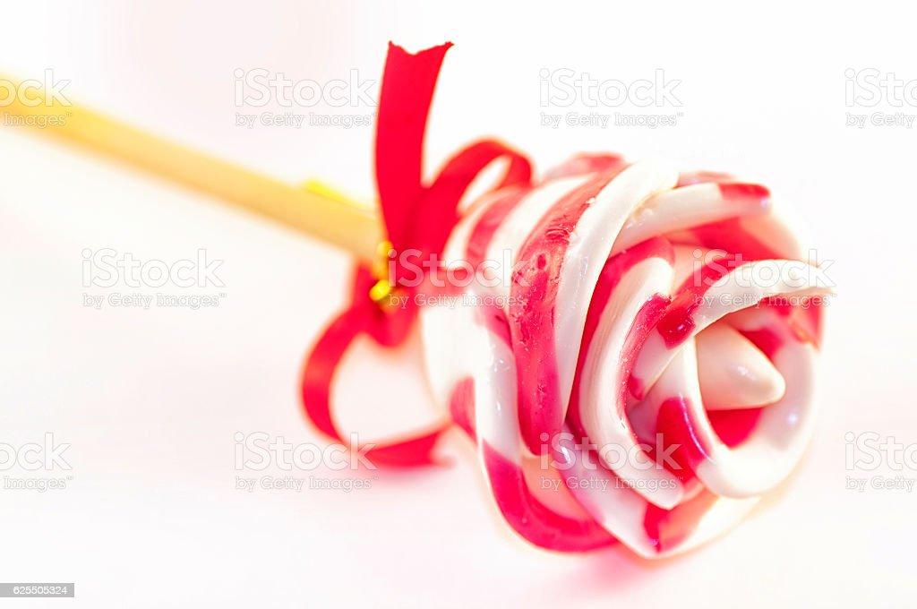 Lollipop rose stock photo