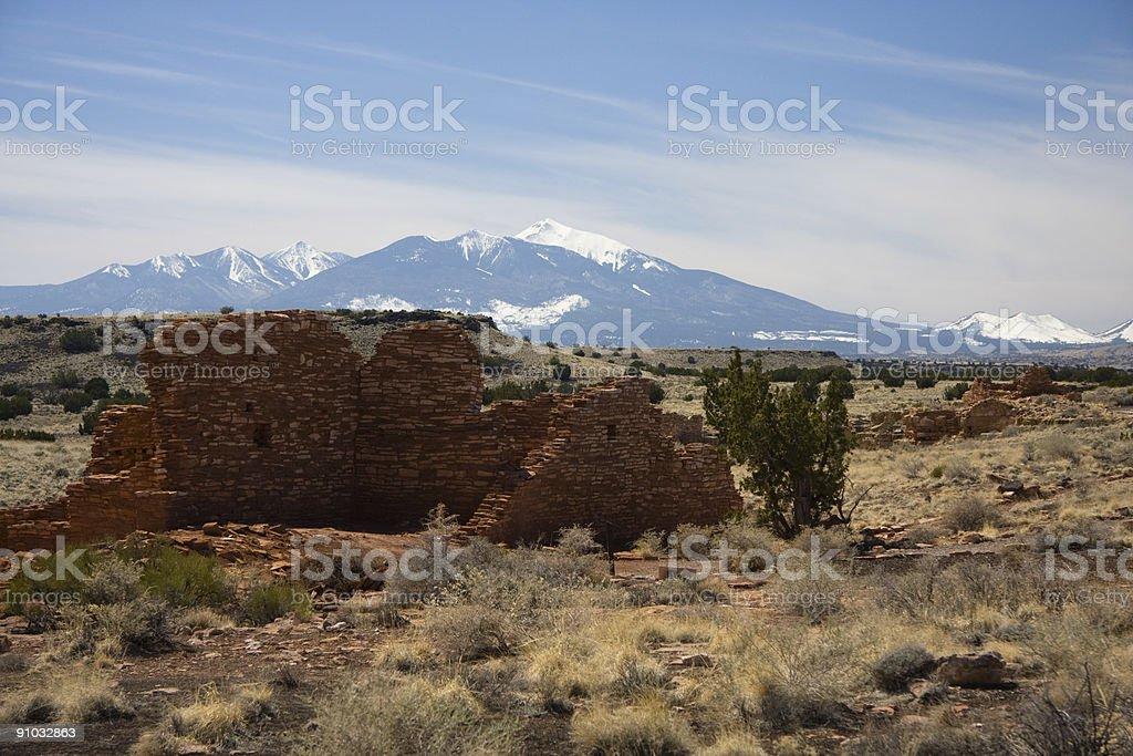 Lomaki Pueblo at Wupatki Monument royalty-free stock photo
