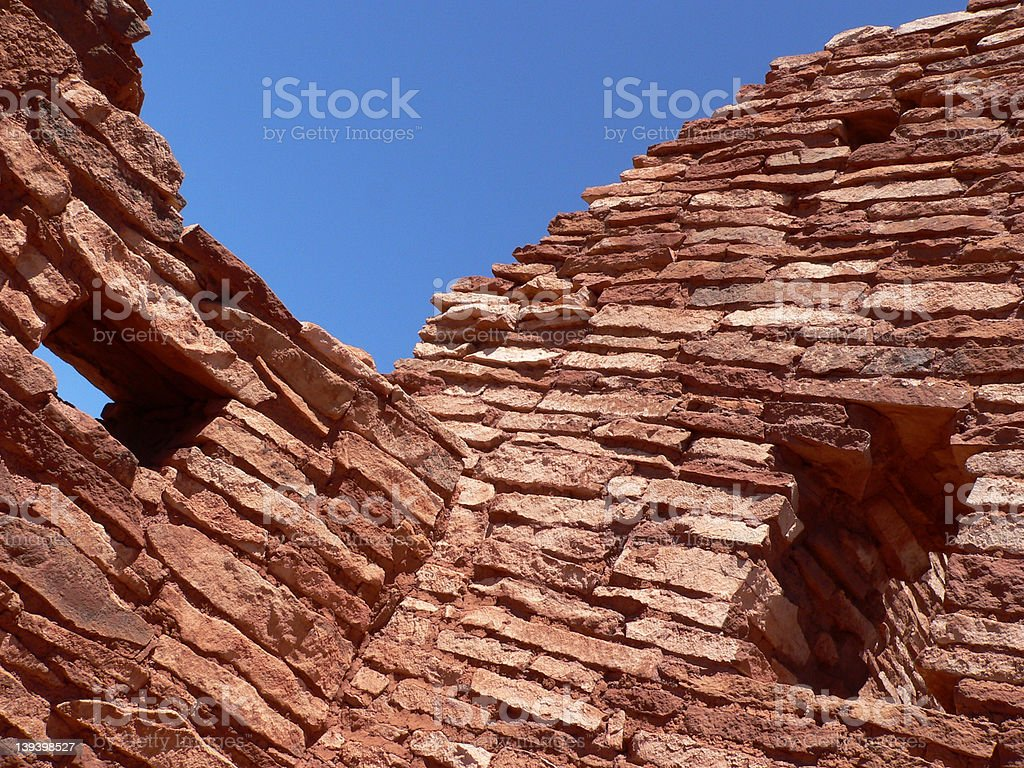 Lomaki Pueblo Ruins stock photo