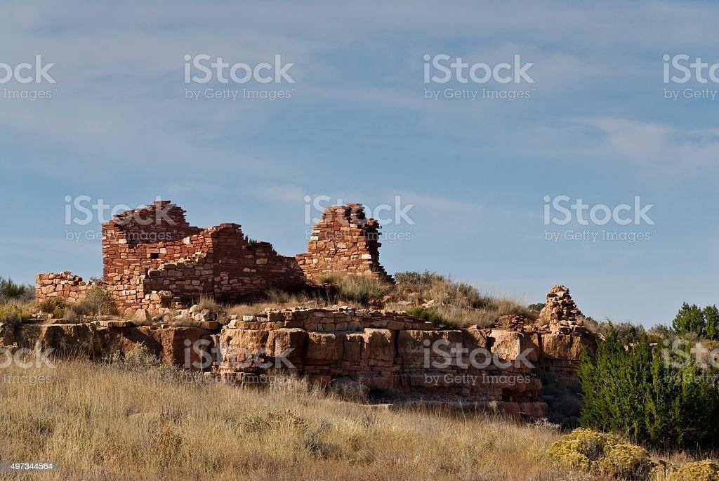 Lomaki Pueblo Ruins stock photo
