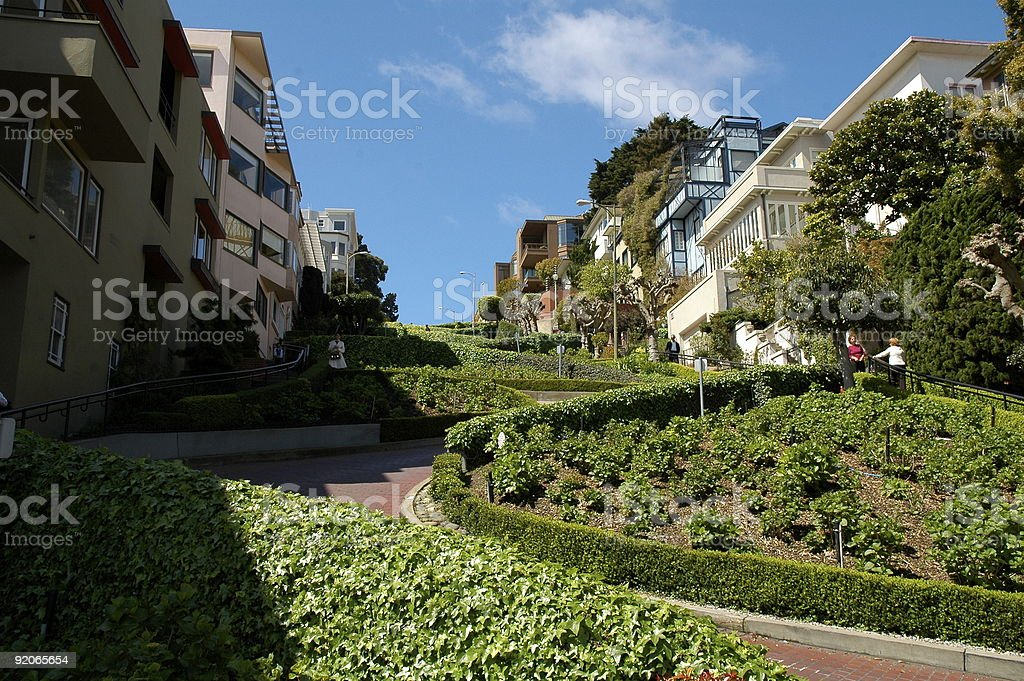 Lombard Curves royalty-free stock photo