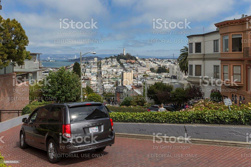 Lombard Street at San Francisco, CA stock photo