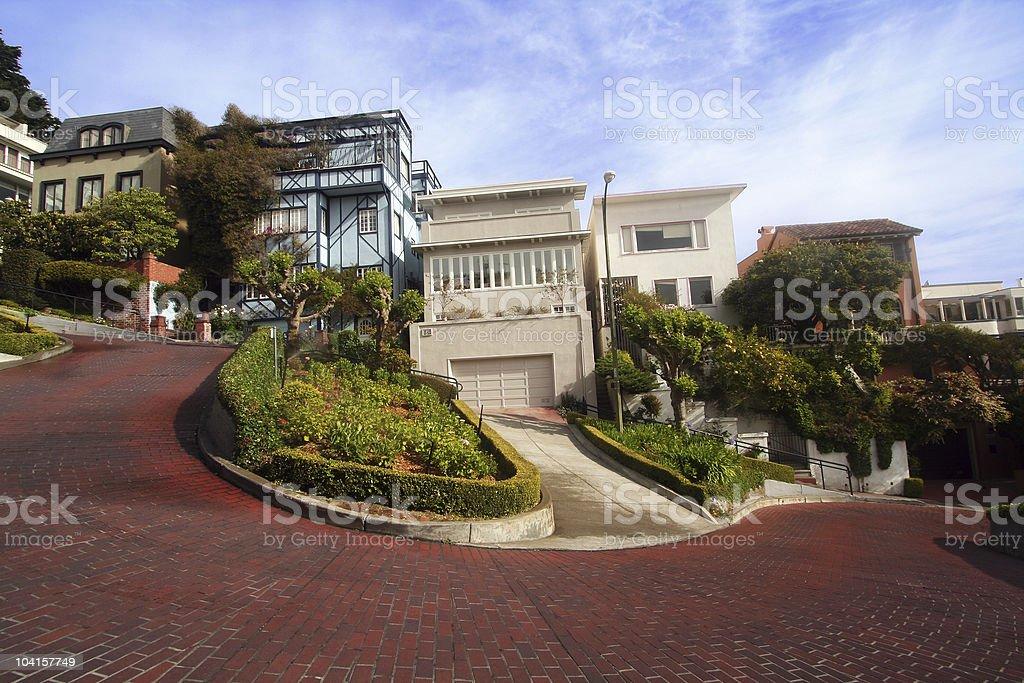 Lombard Street - Horizontal 3 royalty-free stock photo