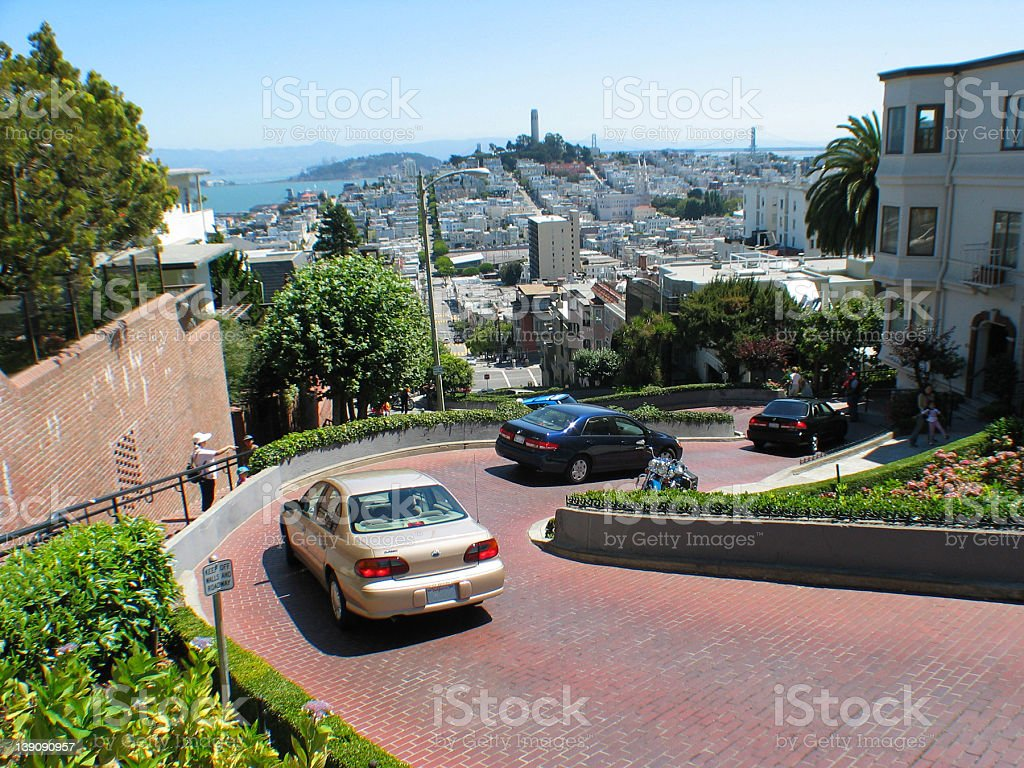 Lombard Street royalty-free stock photo