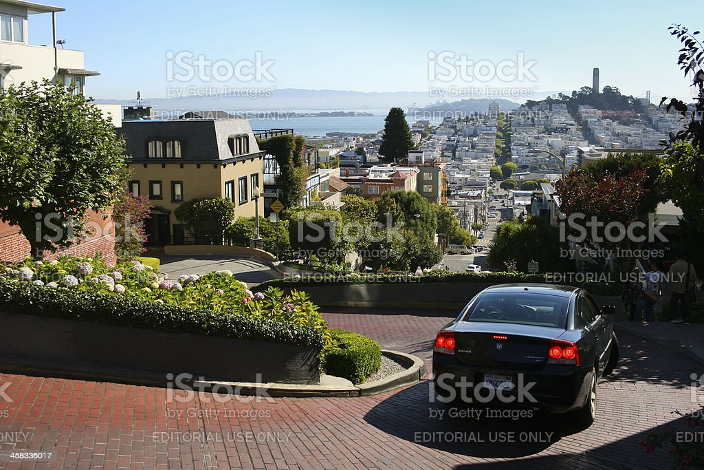 Lombard Street stock photo