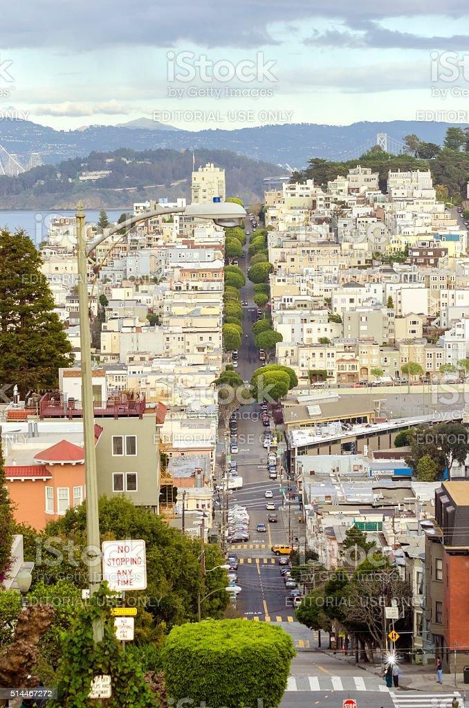Lombard Street, San Francisco, California stock photo