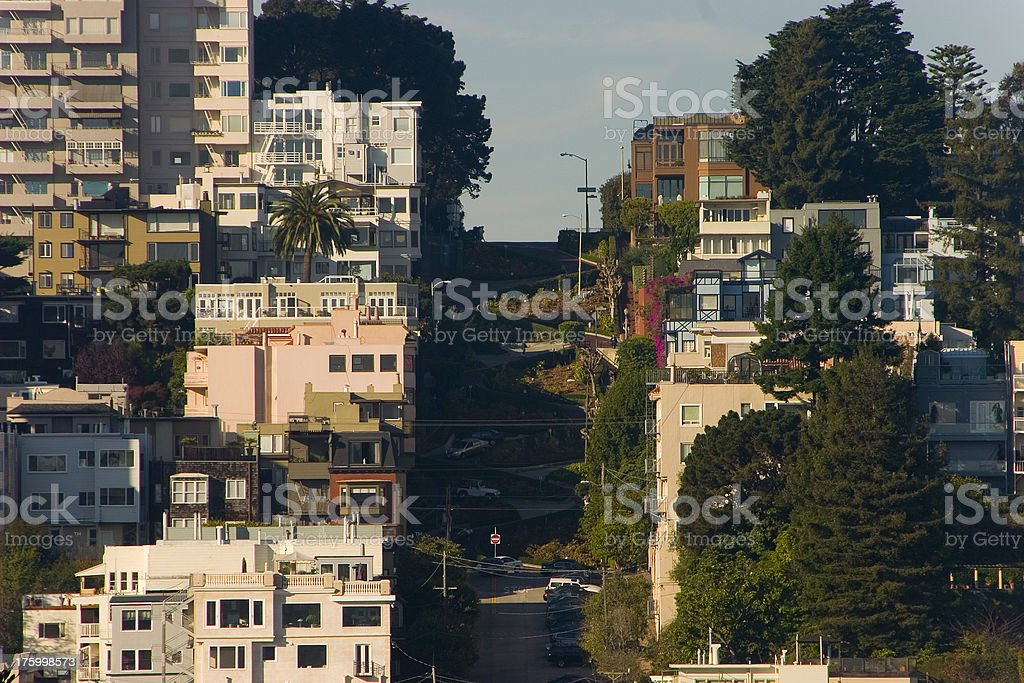 Lombard street, San Francisco royalty-free stock photo