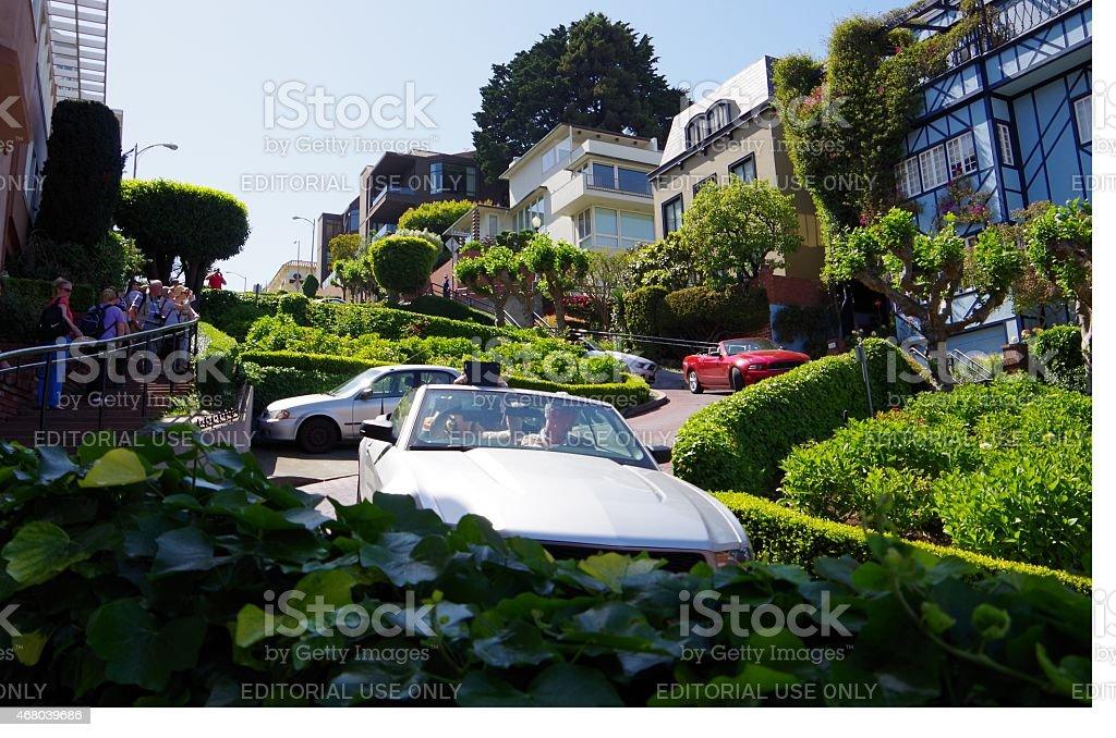 Lombard Street, San Francisco foto de stock libre de derechos