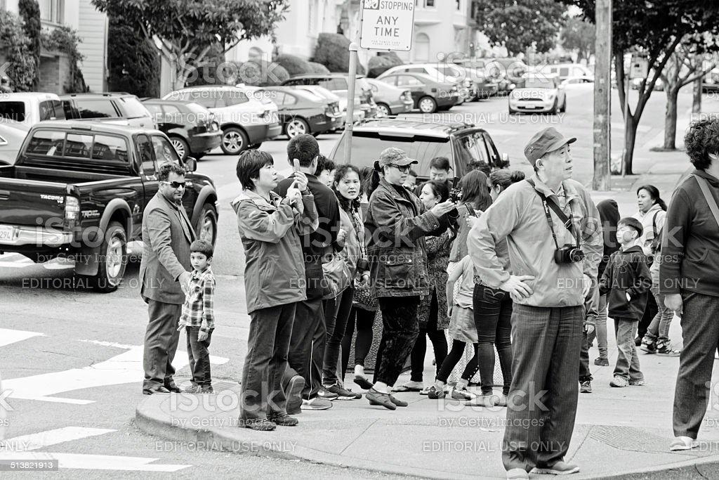 Lombard Street San Francisco stock photo