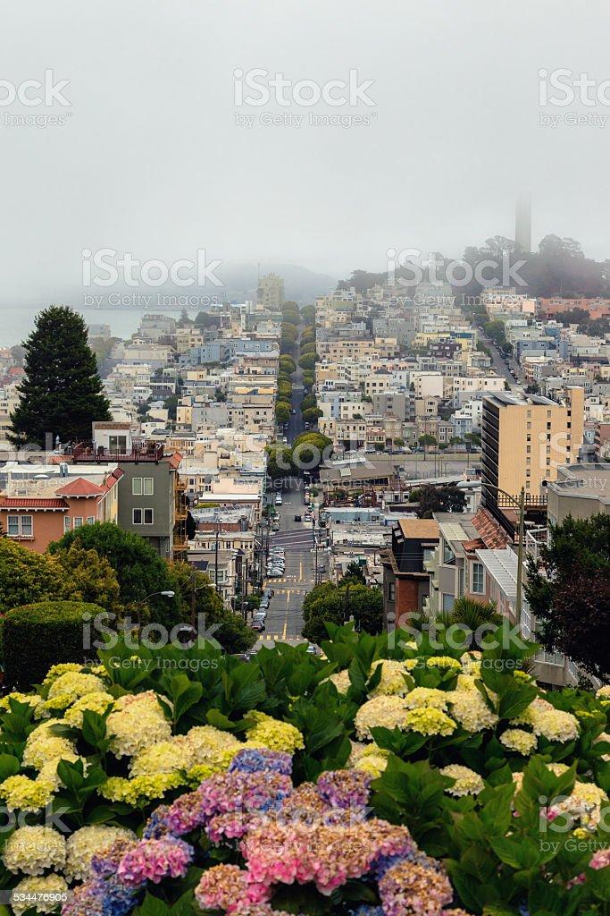 Lombard Street, San Francisco stock photo