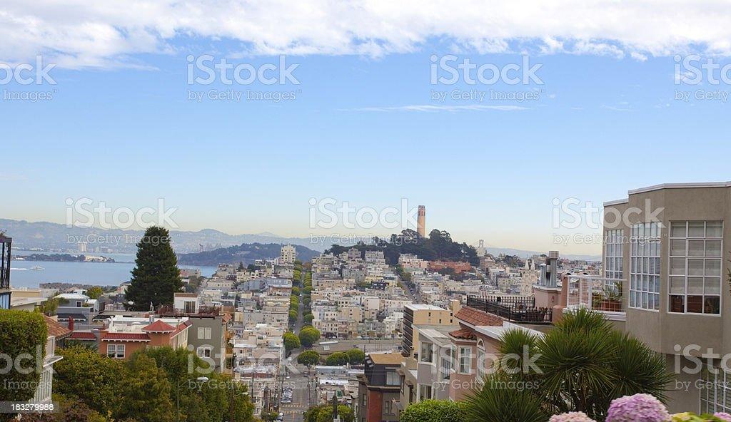 Lombard Street View stock photo