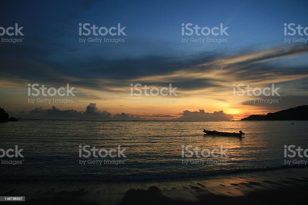 Lombok sunset royalty-free stock photo