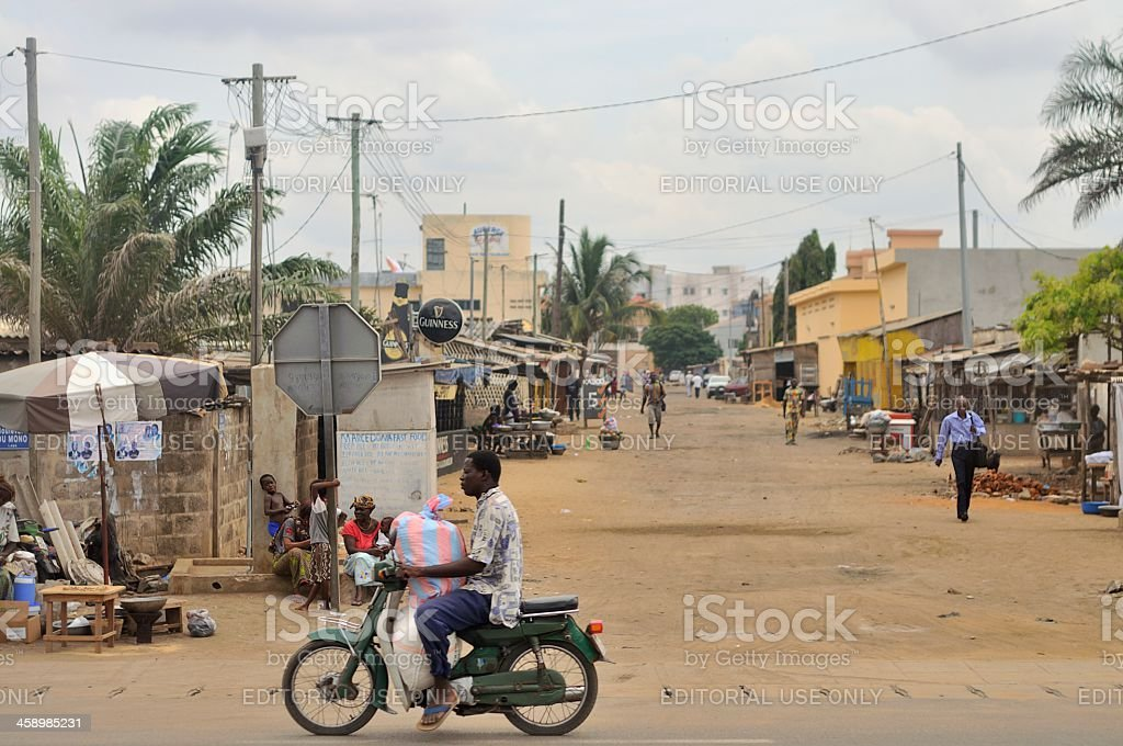 Lome Street Scene stock photo