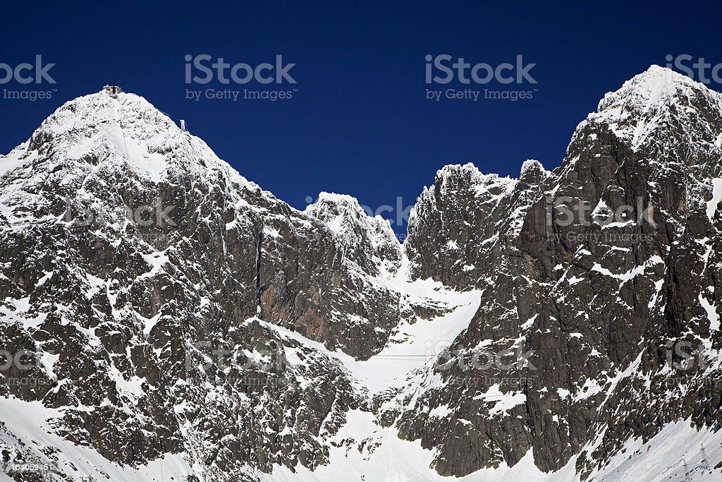 Lomnicky stit - peak in High Tatras mountains royalty-free stock photo