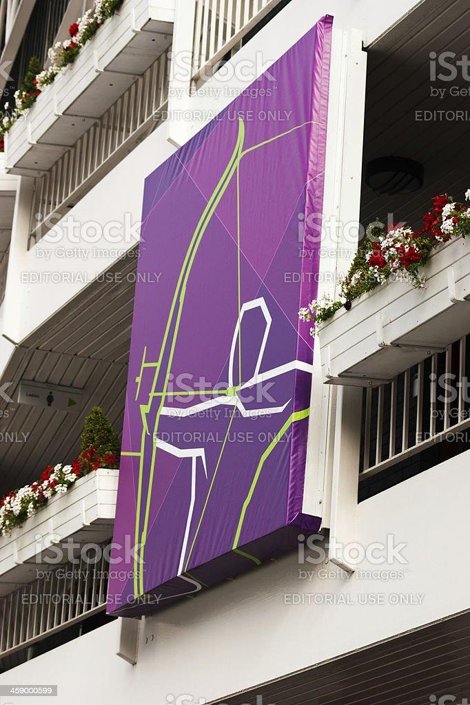 London 2012 Olympic Archery Logo royalty-free stock photo