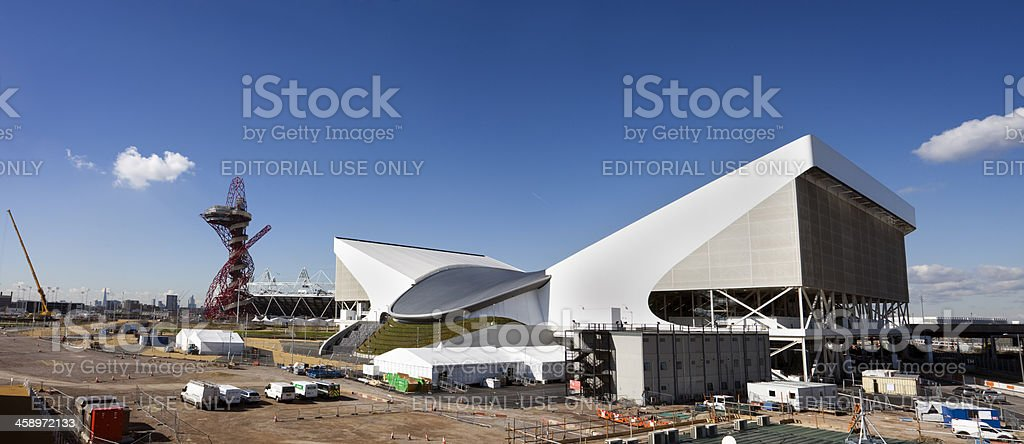 London 2012 Olympic Park during Construction royalty-free stock photo