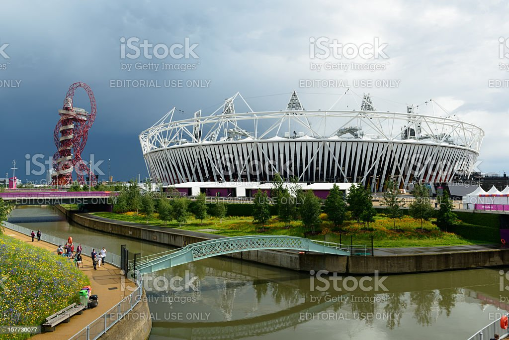London 2012 Olympic Park stock photo