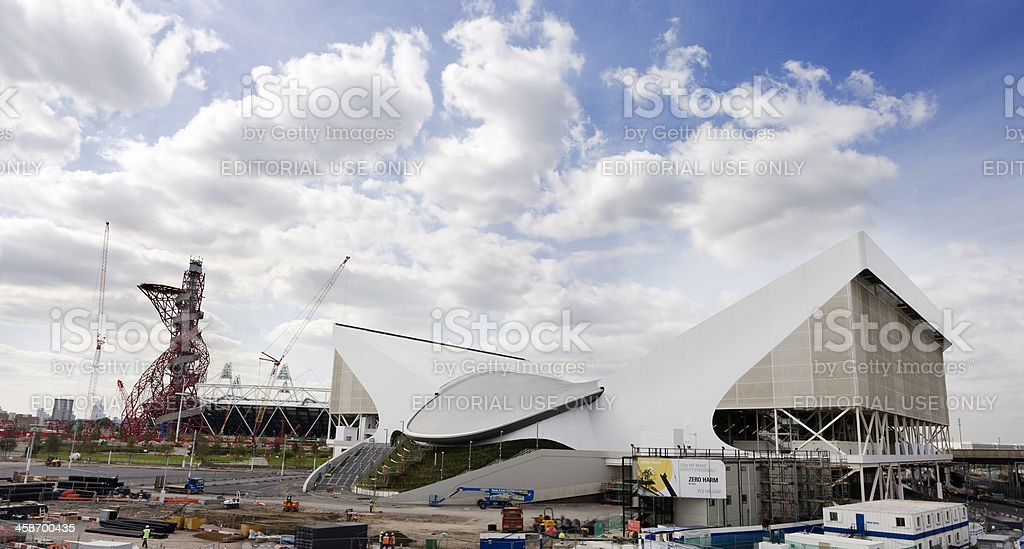 London 2012 Olympic Site stock photo