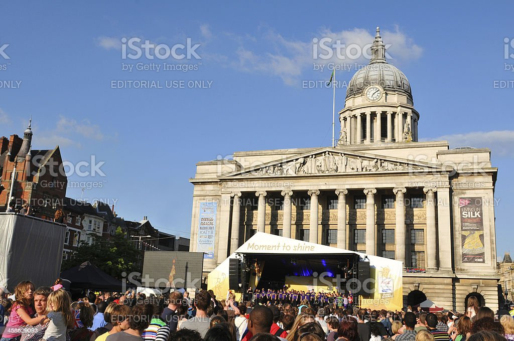 London 2012 Olympic Torch Relay concert royalty-free stock photo