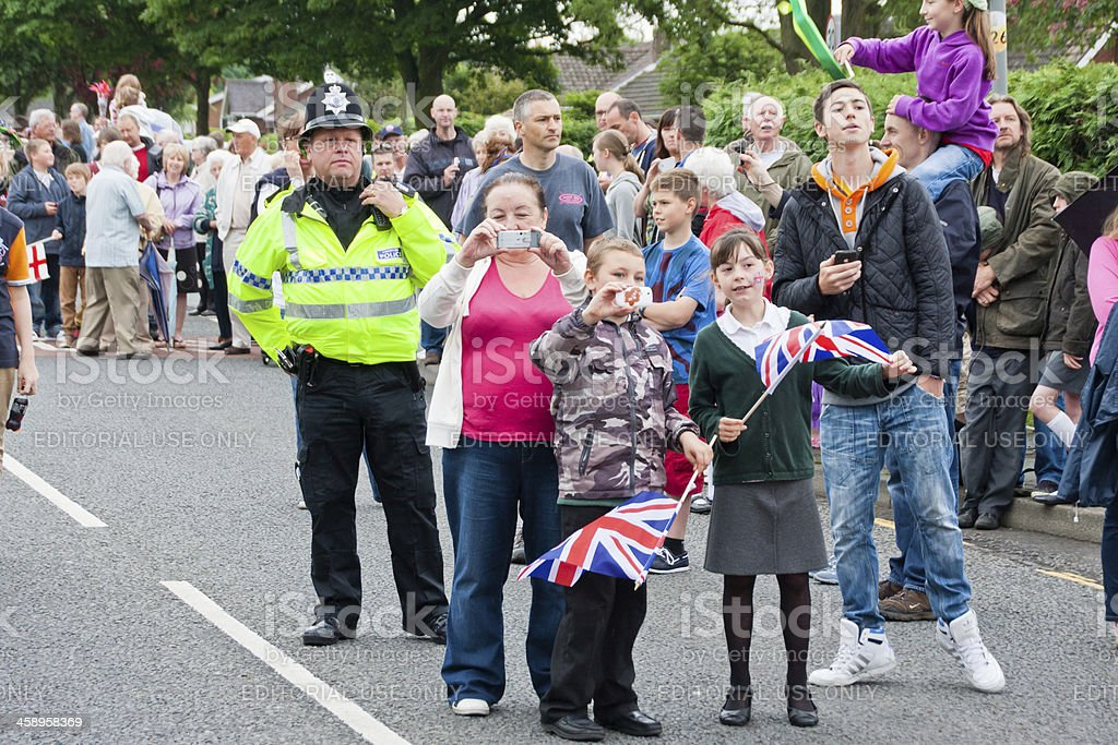 London 2012 Olympic Torch Relay royalty-free stock photo