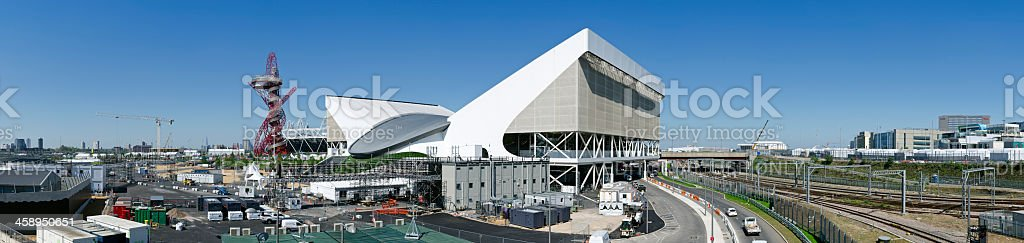 London 2012 Olympics Aquatic Centre panorama stock photo