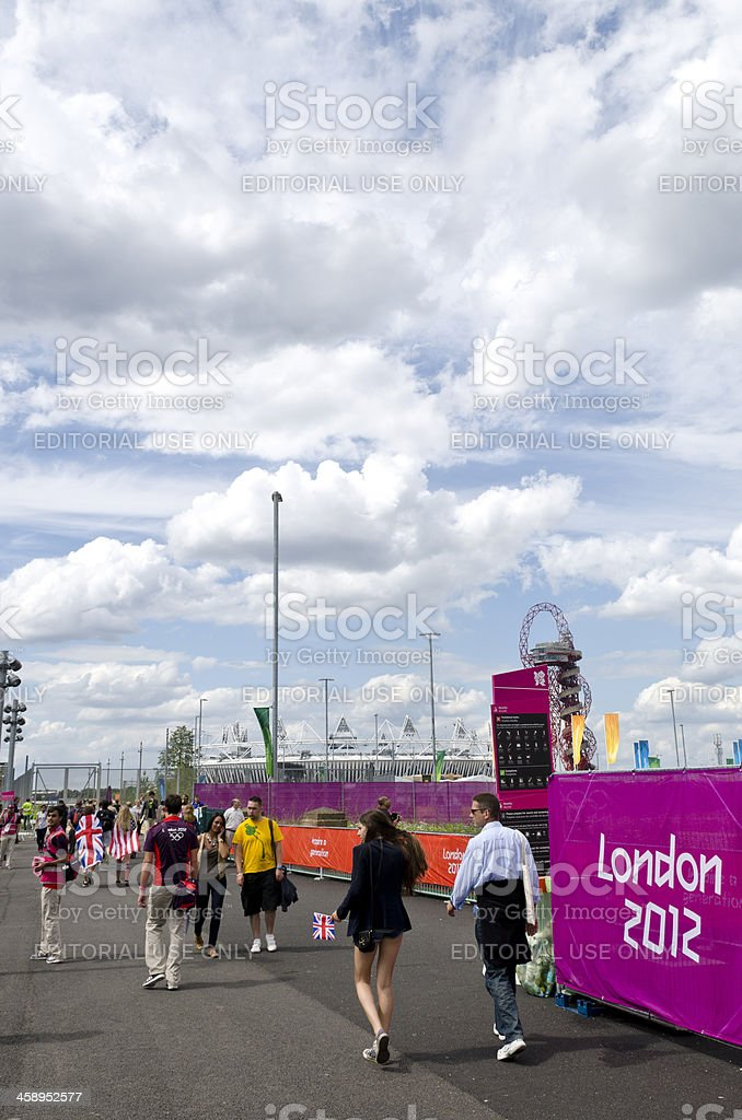 London 2012 Olympics spectators entering the park stock photo
