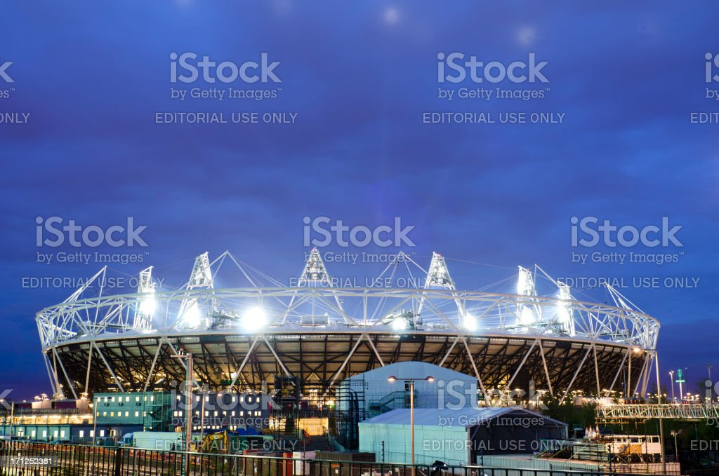 London 2012 Olympics Stadium opening ceremony royalty-free stock photo
