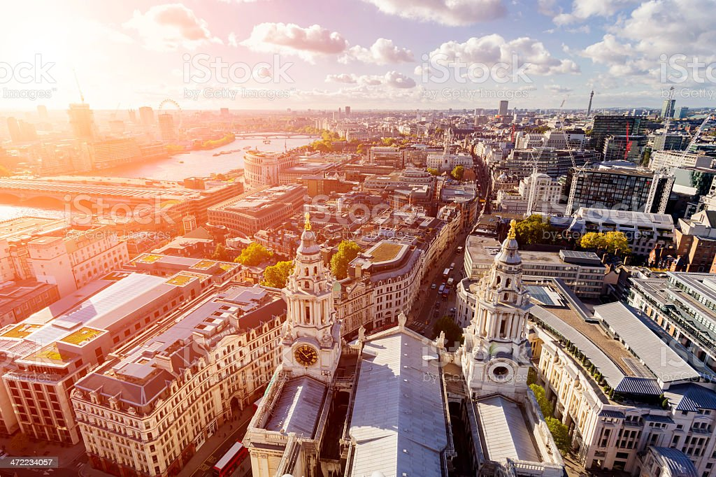 London Aerial Cityscape stock photo
