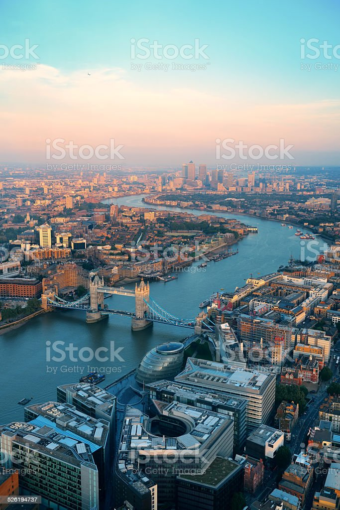 London aerial stock photo