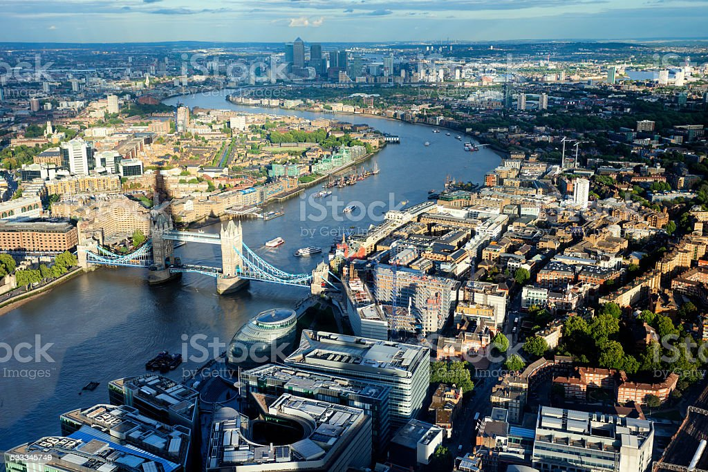 London, Aerial View stock photo