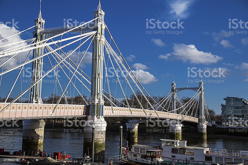 London - Albert Bridge royalty-free stock photo