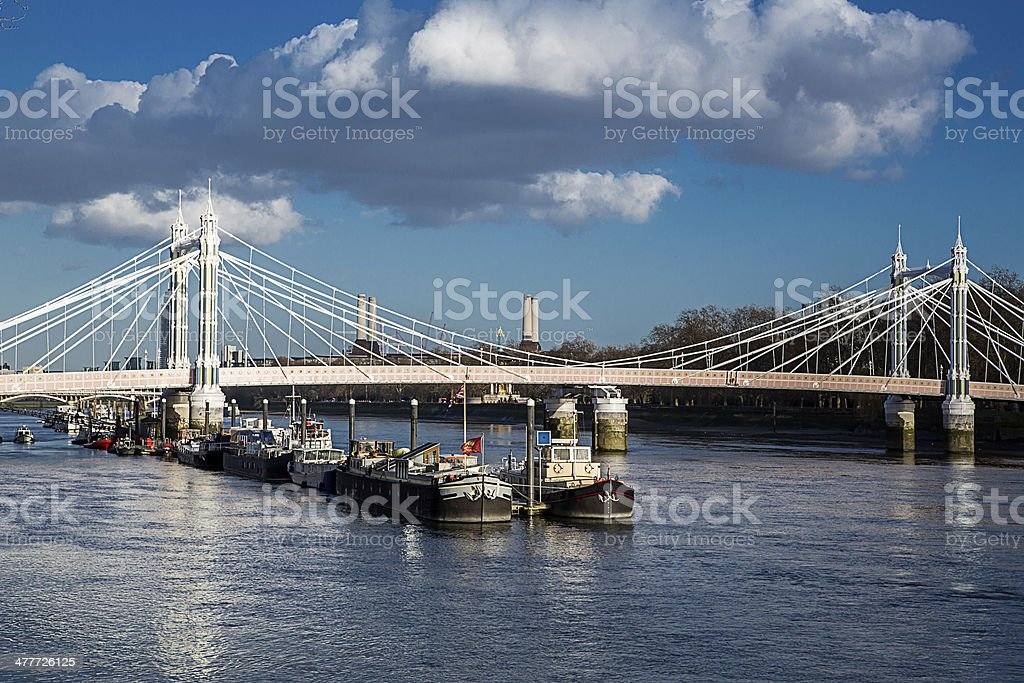 London - Albert Bridge stock photo