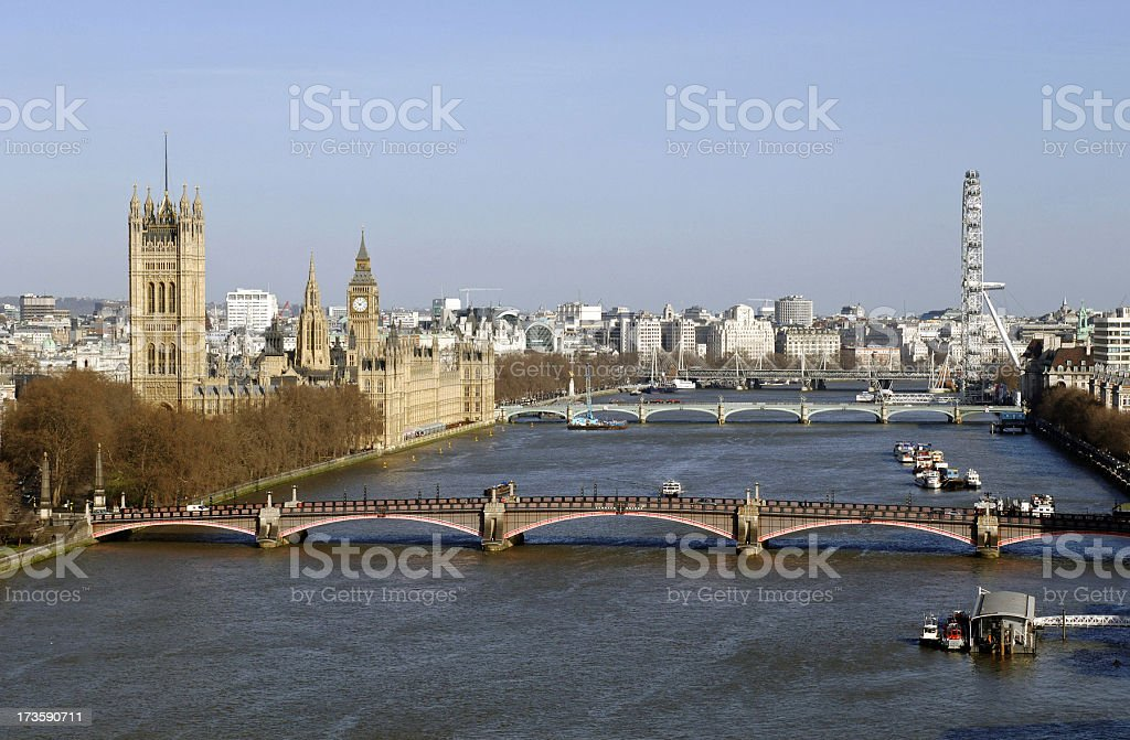 London and River Thames stock photo