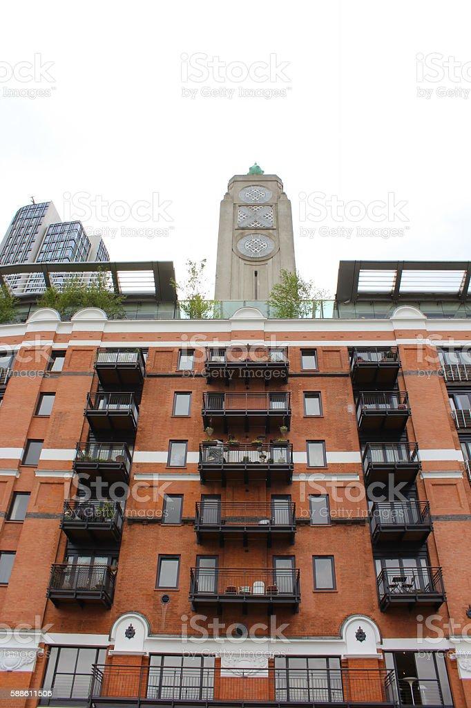 London apartments stock photo