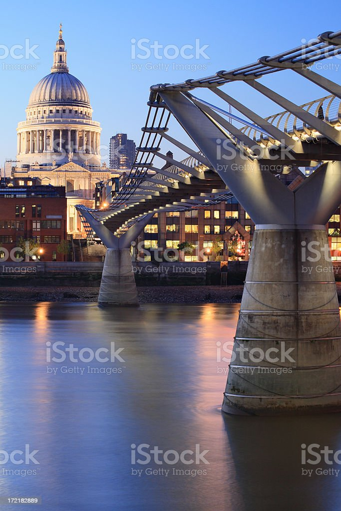 London architecture detail at night royalty-free stock photo