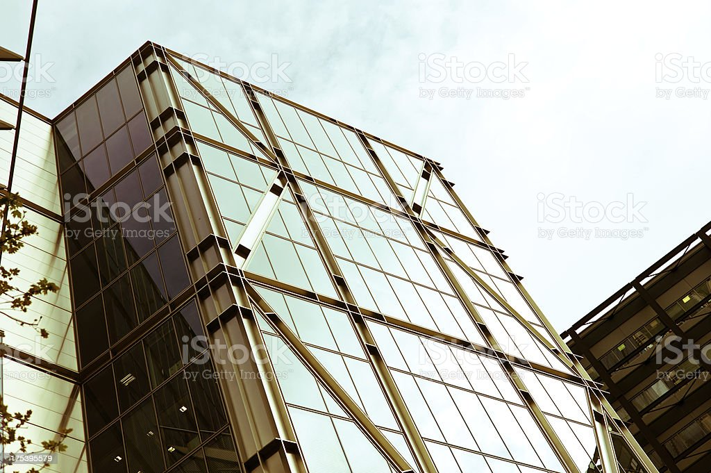 London Architecture: modern office buildings stock photo
