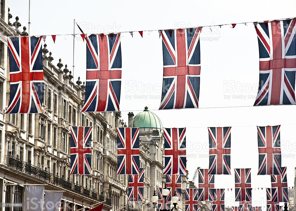 london architecture: preparation for queen's diamond jubilee royalty-free stock photo