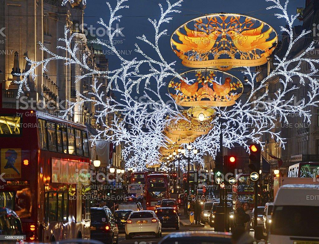London at Christmas stock photo