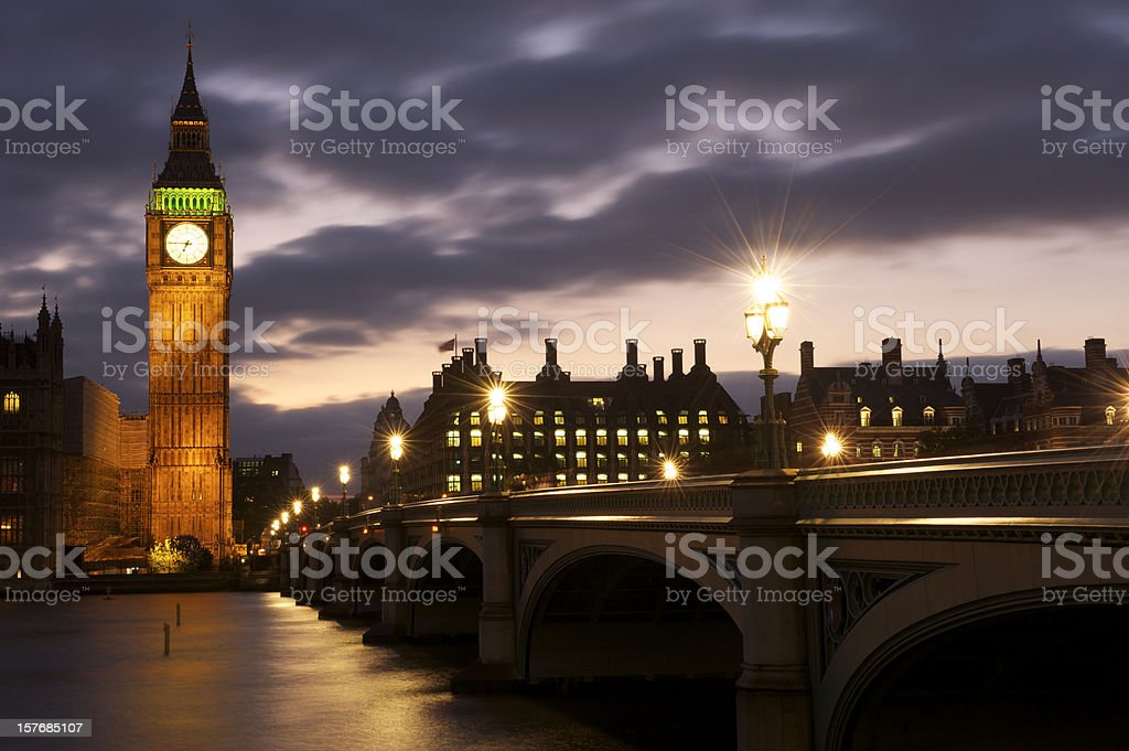 London at Dusk stock photo