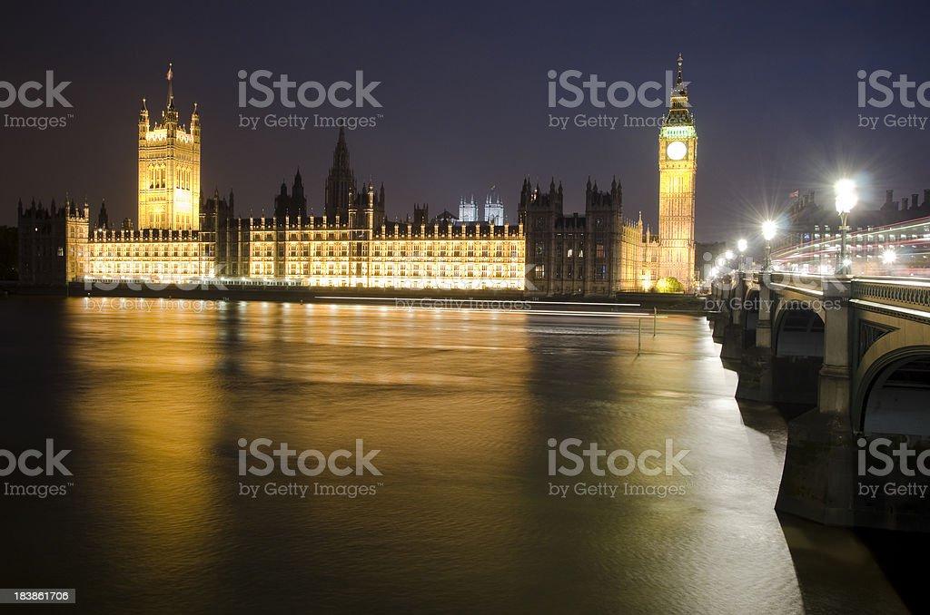 London at Night royalty-free stock photo