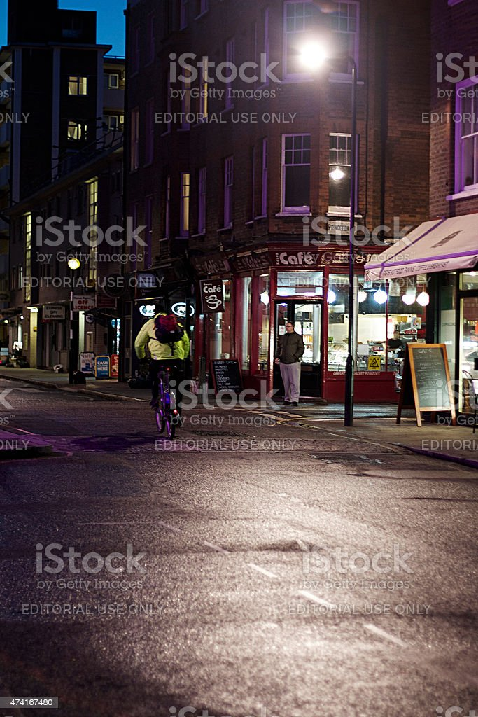 Londra di notte foto stock royalty-free