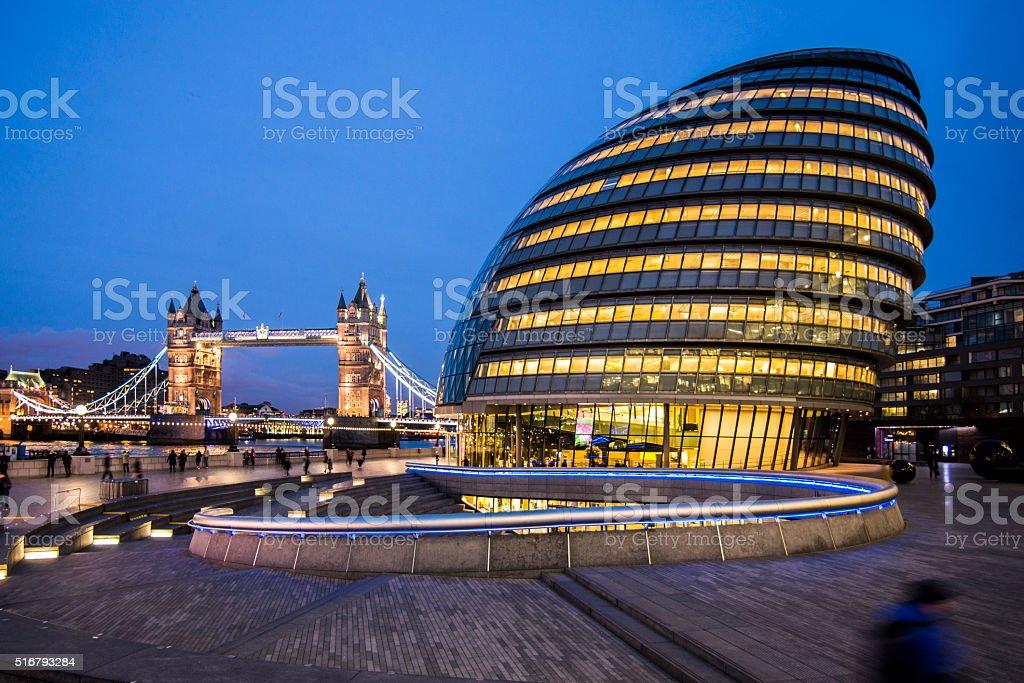 London at night stock photo