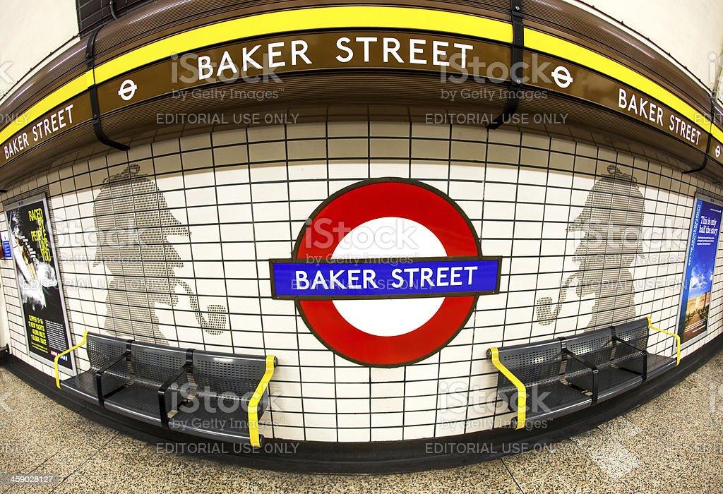 London Baker Street Tube Station royalty-free stock photo