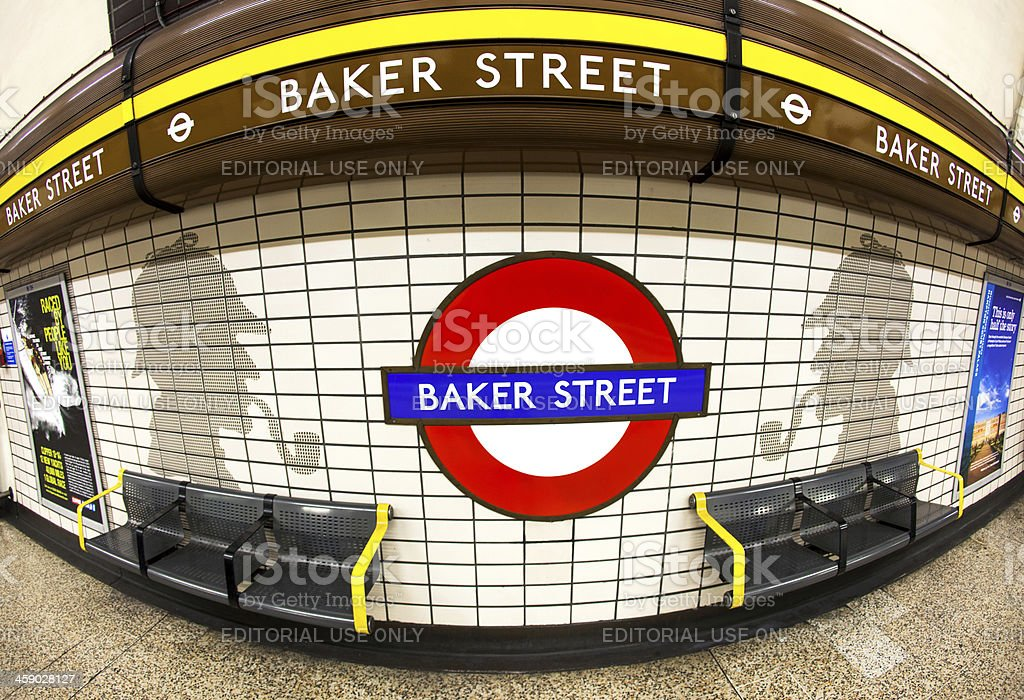 London Baker Street Tube Station stock photo